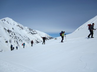 Two-day winter trek from Vihren lodge to Spano Pole in Pirin through Bashliyska and Banderishka gates