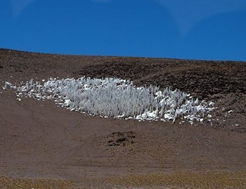 Ice-snow formations in Atacama desert at 5100m.